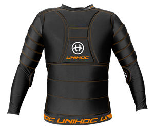 Langærmet floorball målmands t-shirt - Unihoc Flow, Sort
